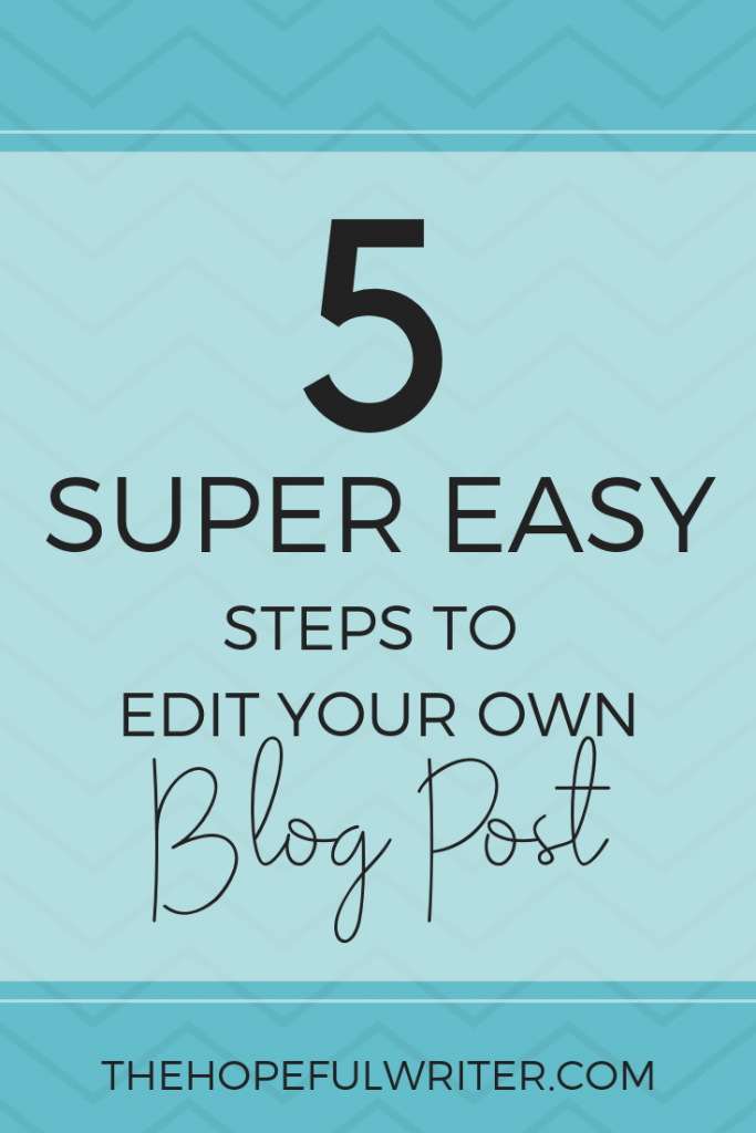 How to edit a blog post