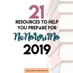 21 Resources to Help You Prepare for NaNoWriMo 2019